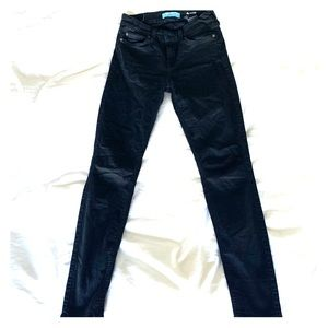 Seven b(air) skinny black ankle jeans